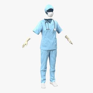 female surgeon dress 10 3d max
