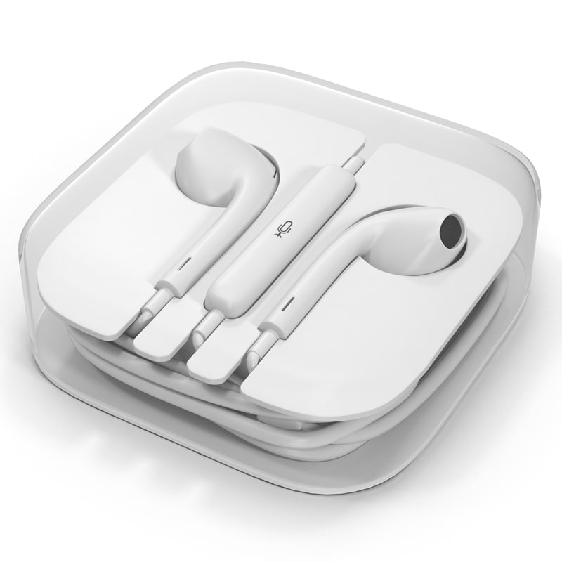 apple earpods box 3d 3ds