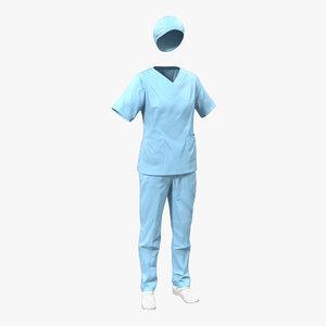 female surgeon dress 11 3d model
