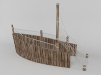 3d model pirate boat