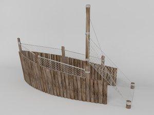 pirate boat 3d max