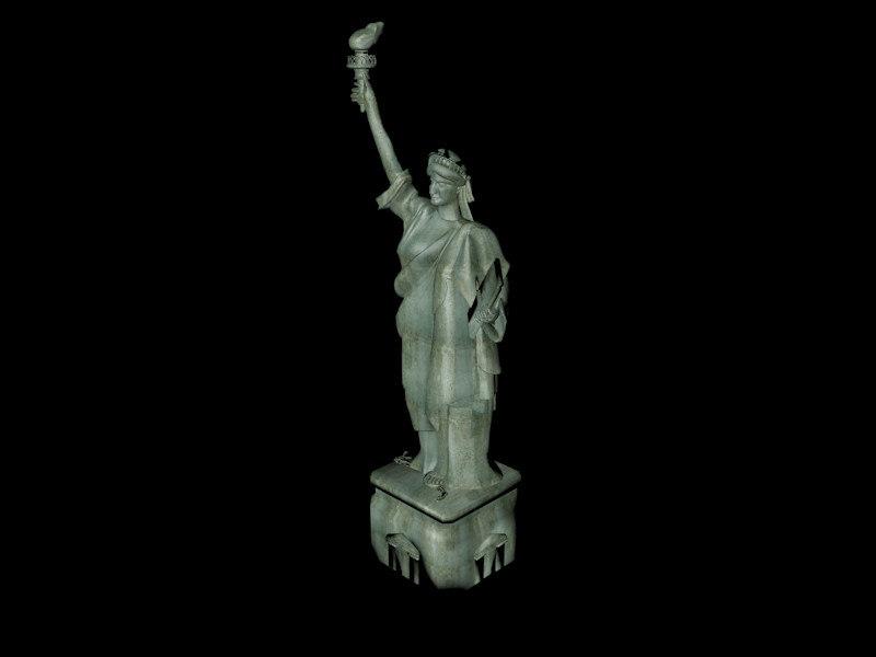 statue liberty 3d c4d