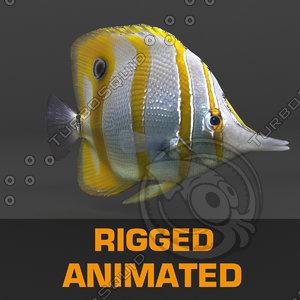 fish animation 3d model