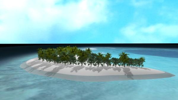 maldives island 3d ma