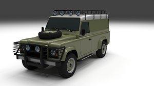 3d model land rover defender 110