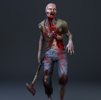 zombie games 3d model