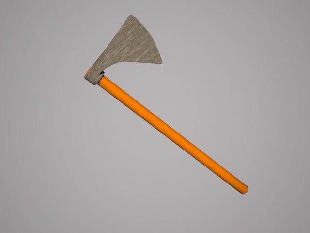 3d axe - model