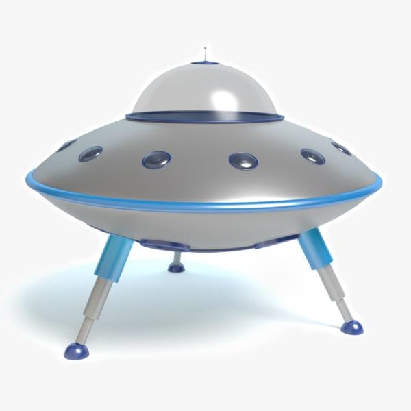 cartoon flying saucer 3d model