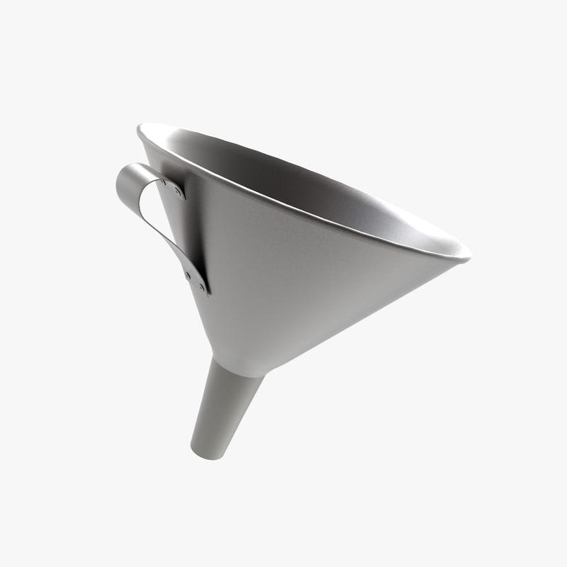 3d model funnel handle