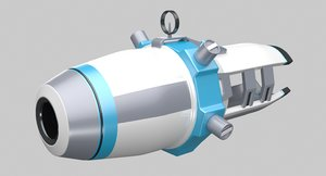 3ds max cartoon sci-fi weapon