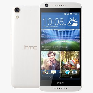 3d model of htc desire 626g white