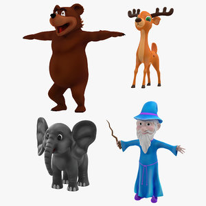 cartoon characters elephant deer max