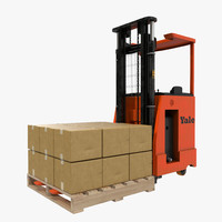 rider stacker red pallet 3d 3ds
