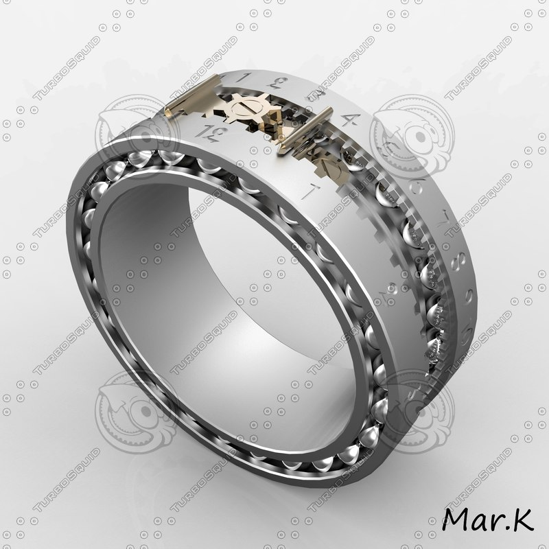 steampunk ring 3d 3ds