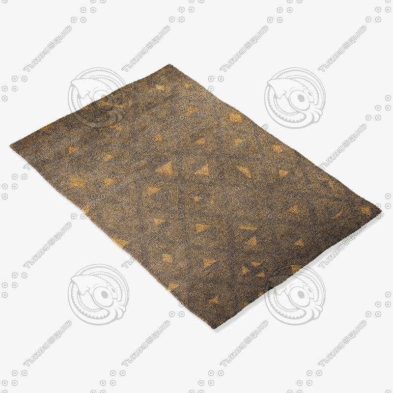 amara rug moroccan 9043 3d model