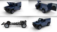 3d land rover defender 90 model