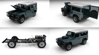 3ds max land rover defender 90