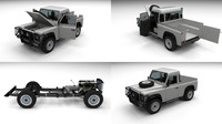 3d land rover defender 90 model