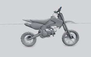 pitbike bbr 3d model