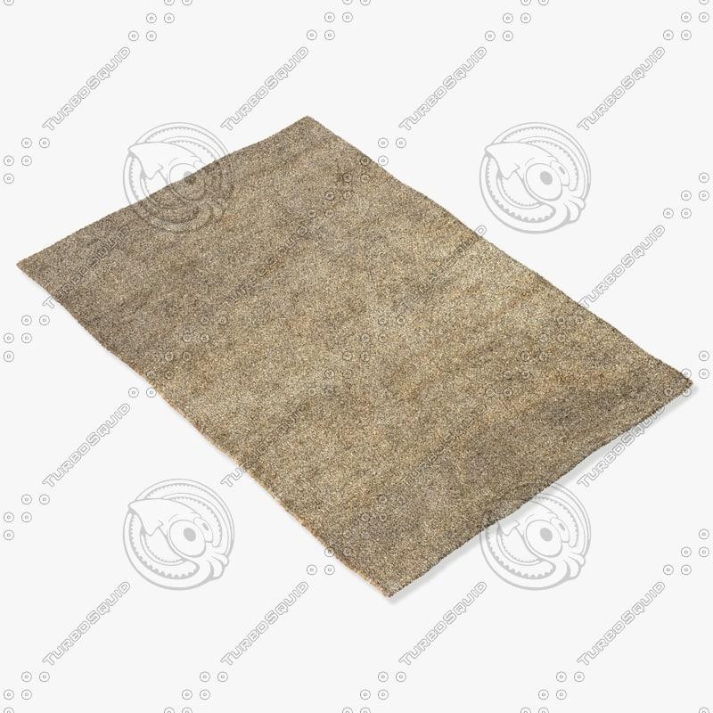 3d amara rug moroccan 9053a model