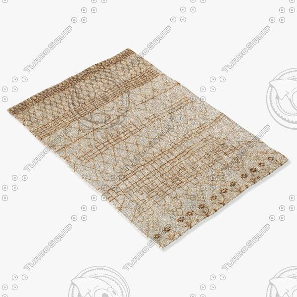 3d model amara rug moroccan 9058
