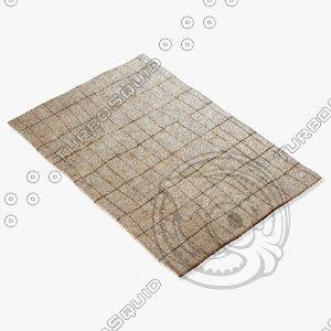 3d amara rug moroccan 9061 model
