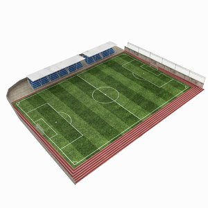 3d model football pitch