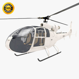 gazelle helicopter obj