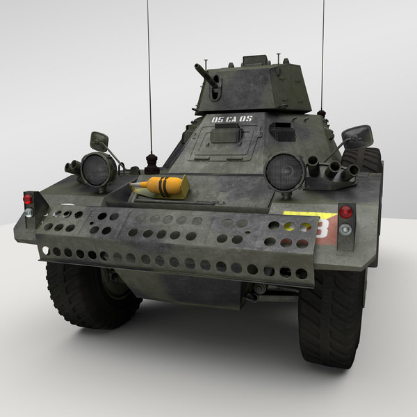 3d daimler ferret armoured car model