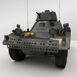 3d daimler ferret armoured car model