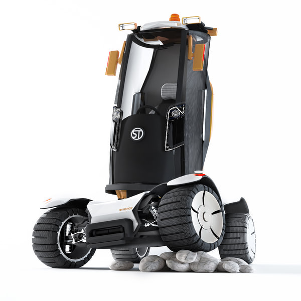 concept industrial car synergy 3d model