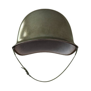 3d helmet army model