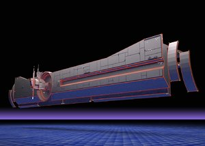 carrier tron 1982 3d model