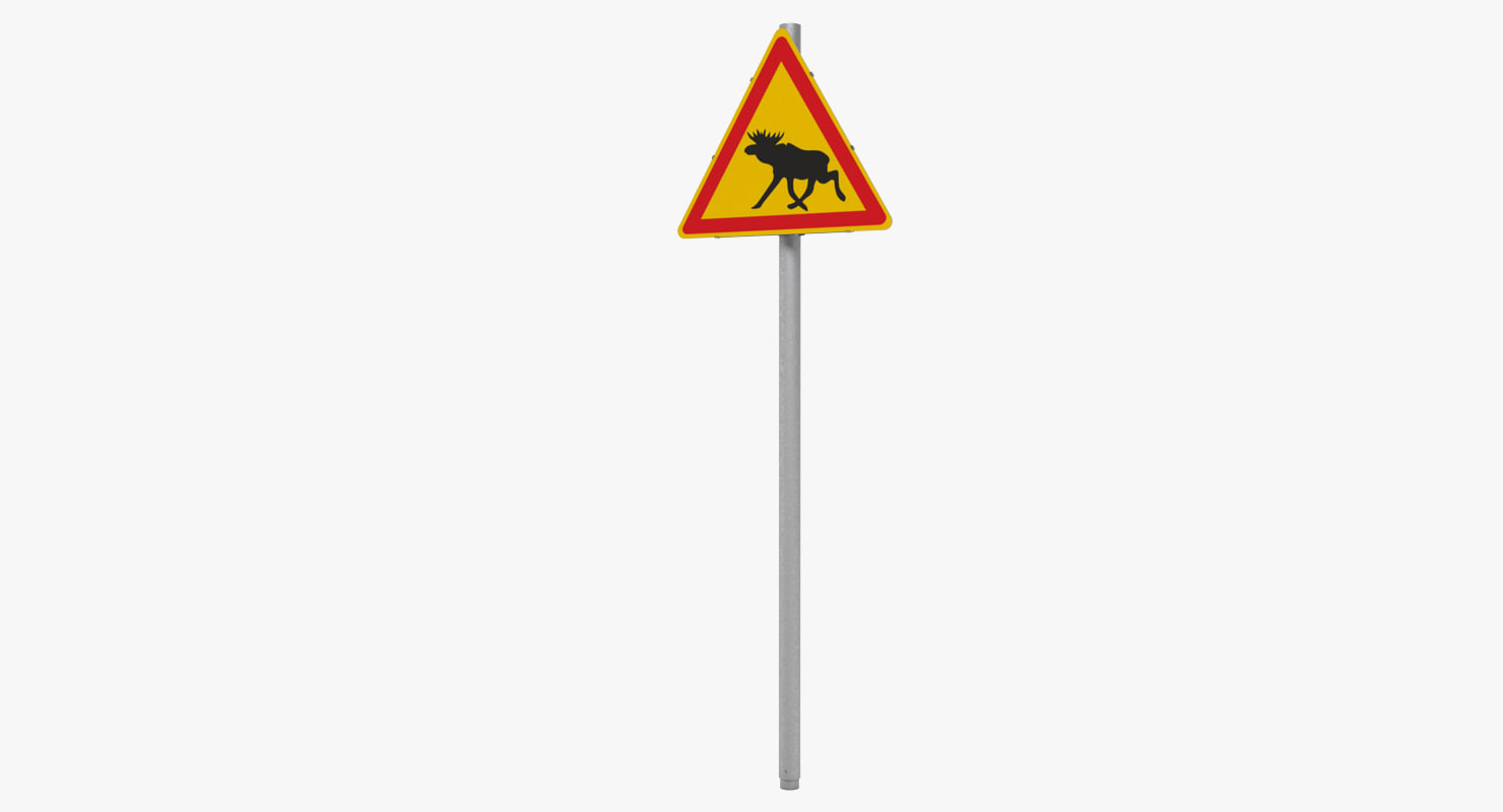 3ds max traffic sign