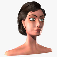 female head 3d fbx
