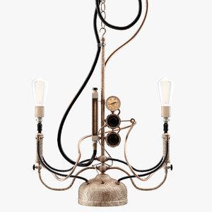 steampunk pendant light max