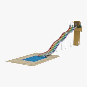 swimming pool waterpark 3d max