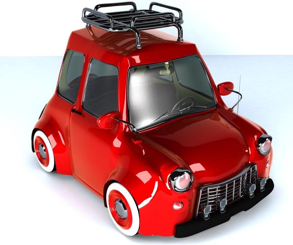 classic fiat car obj
