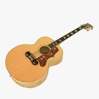 3d gibson j-200 guitar model