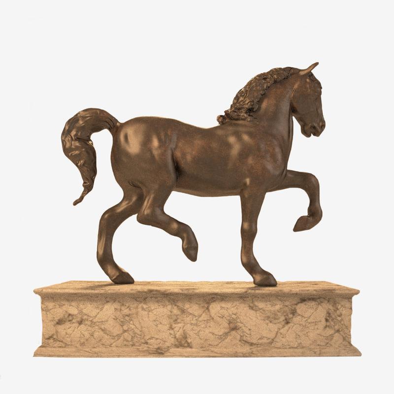 davinci s horse 3d model