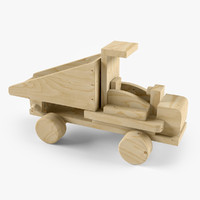 3d model wooden wood car