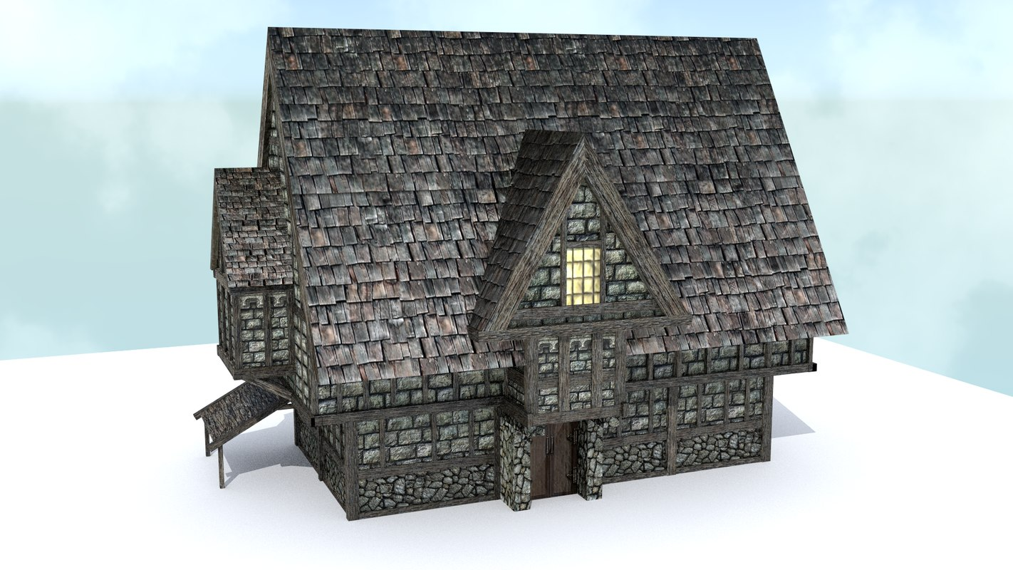 pack 1 house medieval city 3d model