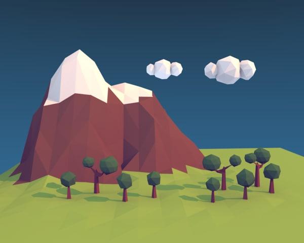 3d 3ds landscape blender