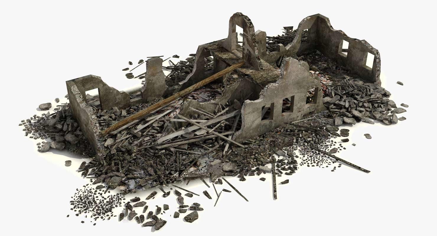 max destroyed ruined building debris