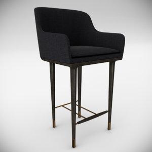 3d max chair bar lunar