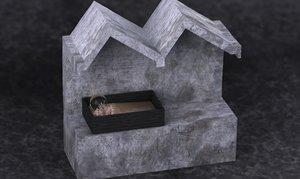 archi-model concrete wood 2014 3d max