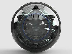 3dsmax engine bubble ship