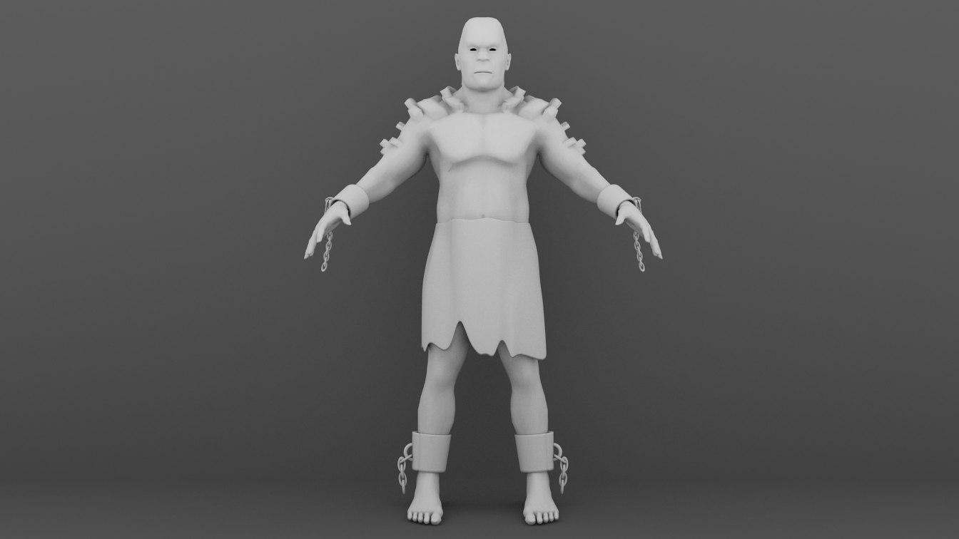3d model titan giant