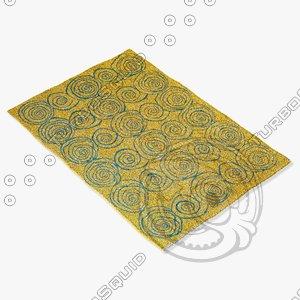 amara rug flat weave obj