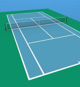 tennis court 3d fbx